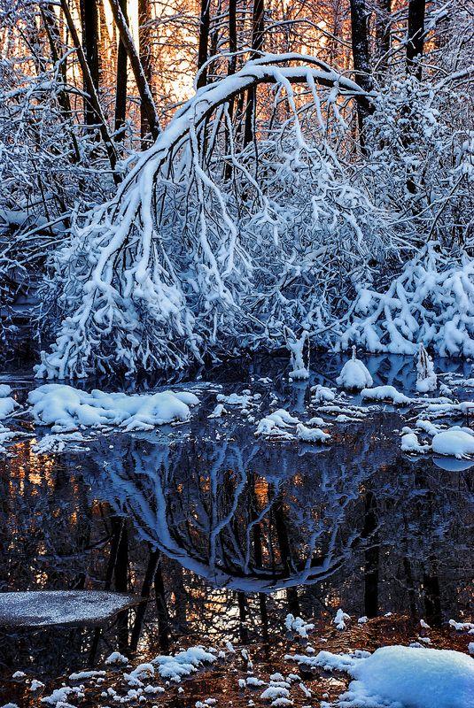 вечер, морозец, речка, снег Наедине со сказкойphoto preview