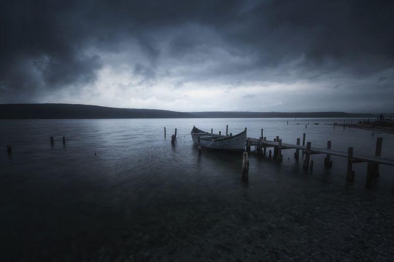 fishing, landscape, nature, boat, storm, clouds, пейзаж, природа Fishing villagephoto preview