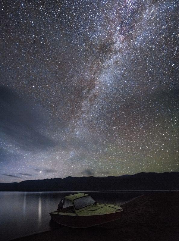 Алтай, Россия, пейзаж, млечный путь, звёзды, ночь, астрофотография Телецкоеphoto preview