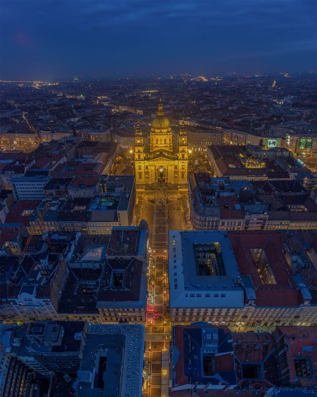 будапешт, budapest, hungary, венгрия Blue hour above Budapest.photo preview