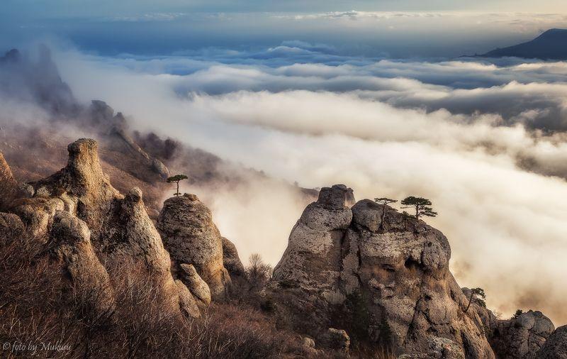 пейзаж, путешествия, горы, крым, закат, travel, landscape Демерджиphoto preview