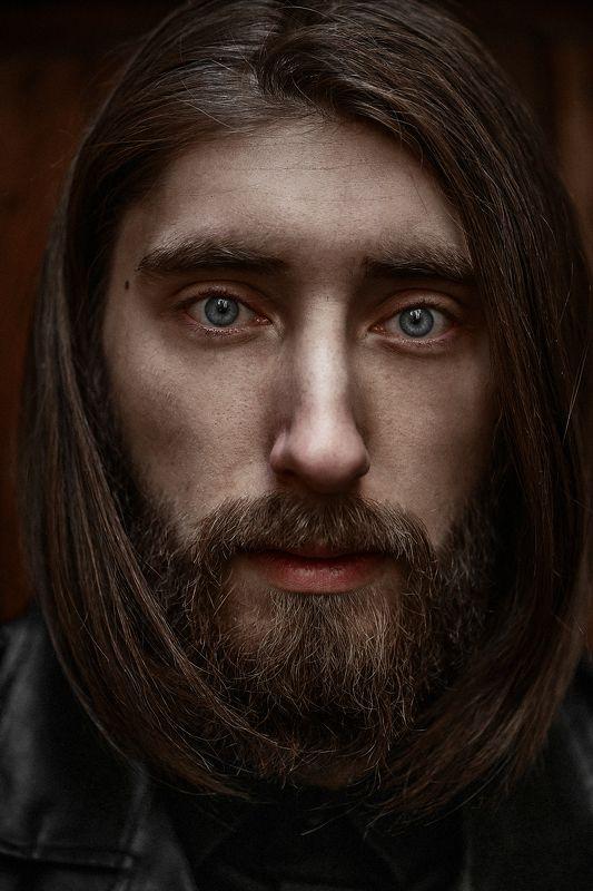 portrait, colour, eyes, man, beard ***photo preview