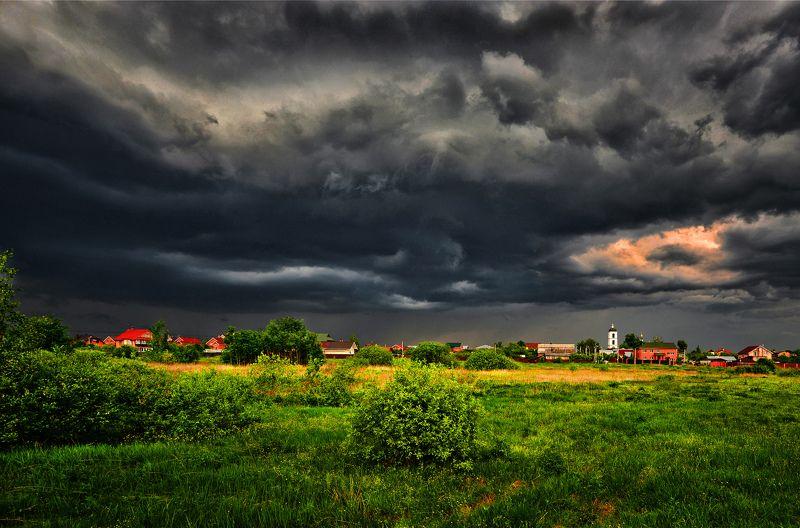 весна, село, околица, гроза Путешествуя рядом с домом...photo preview