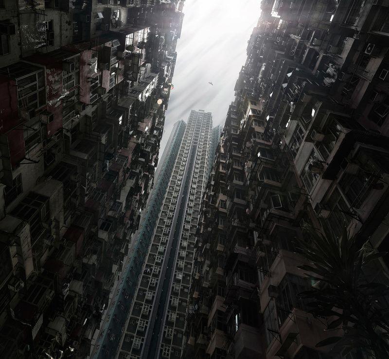 город, архитектура, гонконг, азия, путешествия, небоскребы Вавилон 2.0photo preview