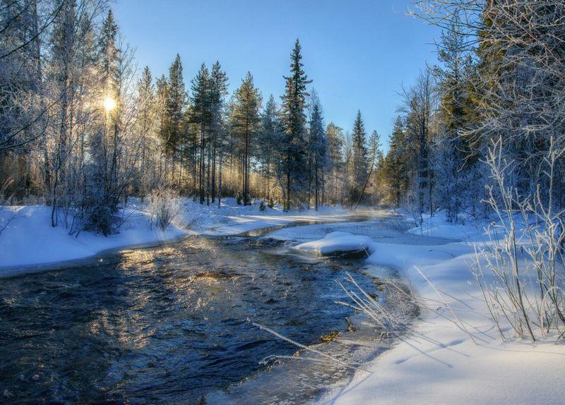карелия,зима,пейзаж,лес,река,русская зима,зимний пейзаж, karelia, winter Сказка зимней Карелииphoto preview