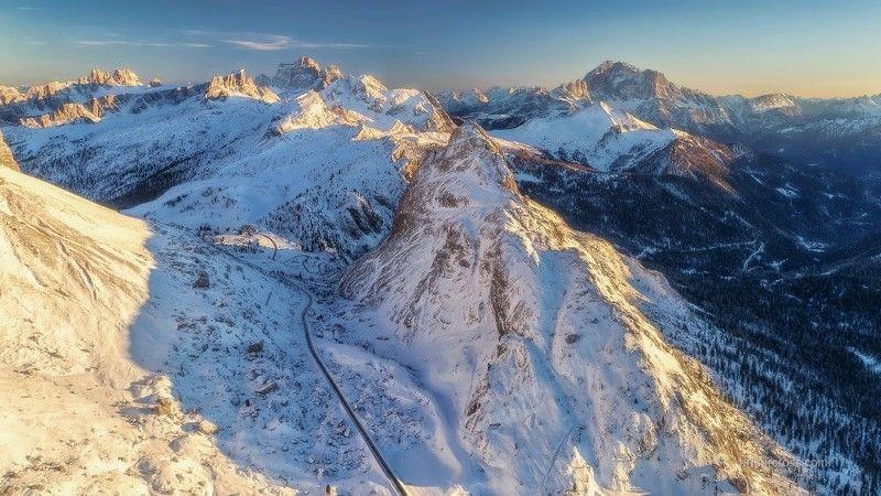 #Италия #горы #снег #зима Зимний закатphoto preview