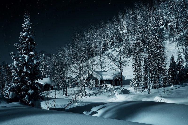 сибирь, зима, снег, кузбасс, природа, пейзаж, лес, домик Уютный домик в Тайге!photo preview