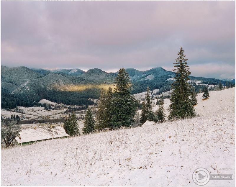 6х7, горы, карпаты, пейзаж, средний формат, фотопленка, пейзажная фотография Снежное утро в Карпатах №2photo preview
