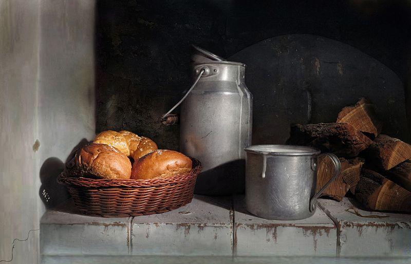 печка,молоко,дрова,кружка,бидон,булочки Из деревни с любовью!photo preview