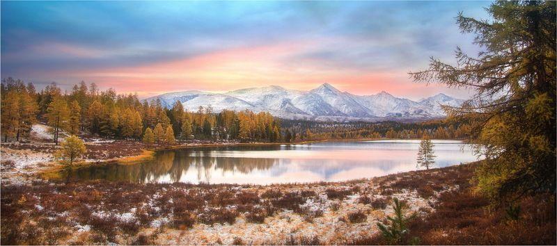 киделю, алтай, озеро, природа, горы, улаган, пейзаж На стыке дня и вечера...!photo preview