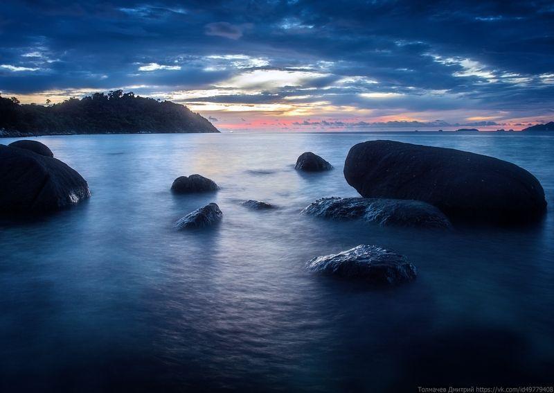 толмачев дмитрий, закат, море, национальный парк туратао, ко липе, тайланд, камни, отлив, отпуск, лето ***photo preview
