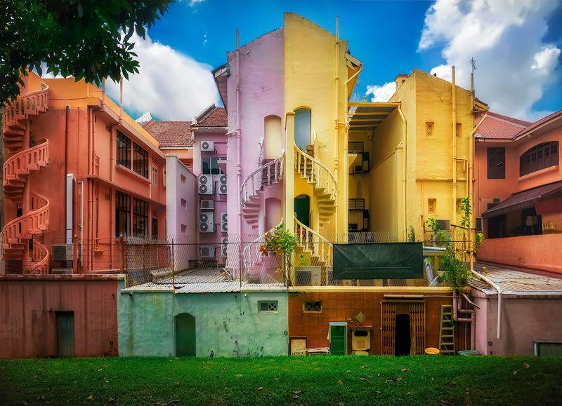 город, архитектура, сингапур Бананово-лимонныйphoto preview