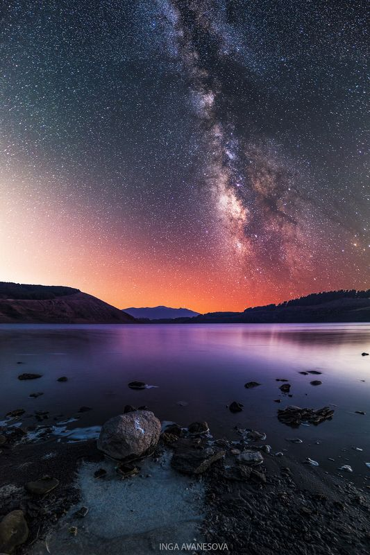 milkyway night starry astrophotograpy landscape  Звездная ночьphoto preview