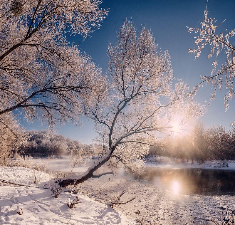 украина, коростышев, река, тетерев, берег, зима, иней, Молчаливая созерцательностьphoto preview