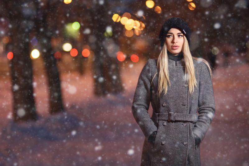 портрет, улица, зима, снег, вспышка Leraphoto preview