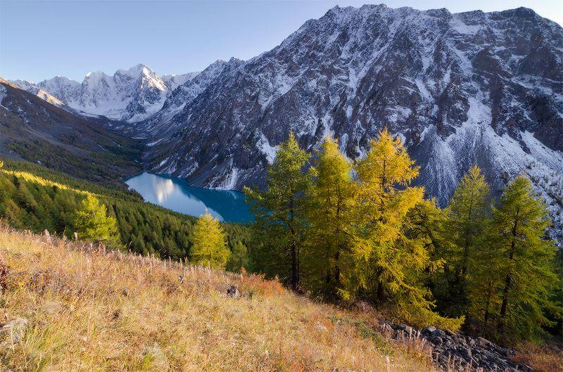 Алтай, оз. Нижнешавлинское тихий вечер над озеромphoto preview