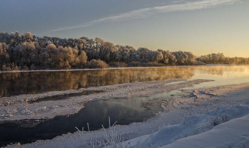 nevant60, , березуцкий_александр, , природа, , красота, , пейзаж, , путешествия, , рассвет, , река Морозное утроphoto preview
