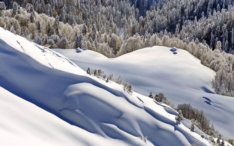 зима горы пастушьи домики Зимний день.photo preview