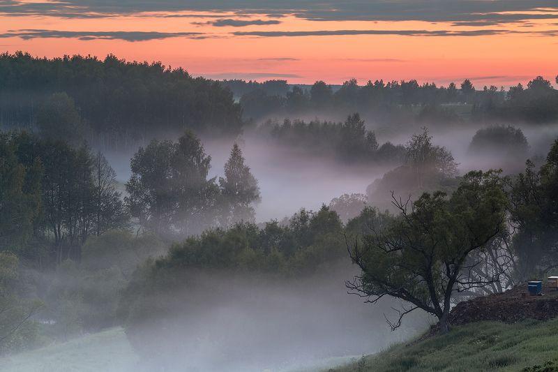 landscape, пейзаж, sunset, туман, Вечерние туманыphoto preview
