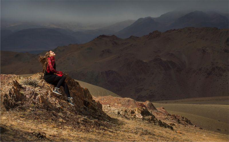 алтай, природа, путешествие, осень, портрет, девушка Диалог с Алтайским ветром..!photo preview