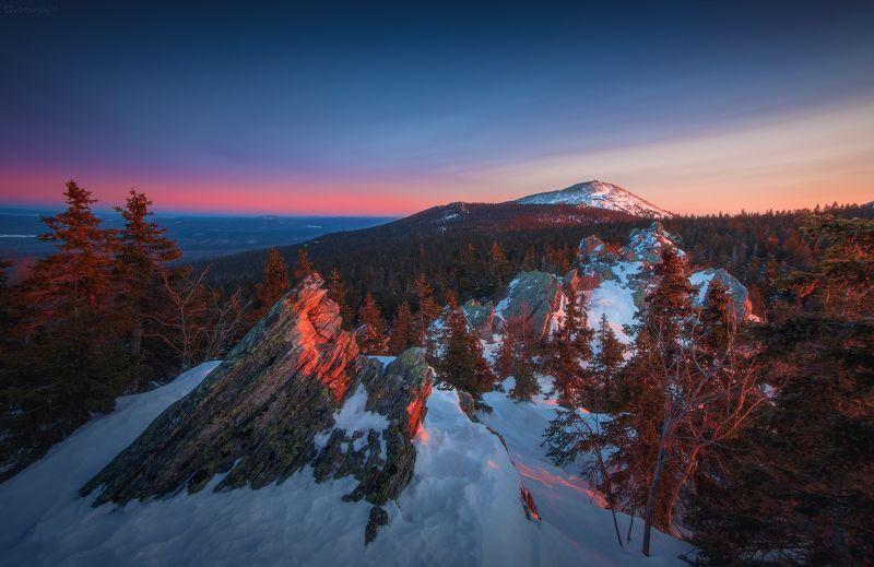 таганай, южный урал, урал, круглица Утро с видом на Круглицуphoto preview