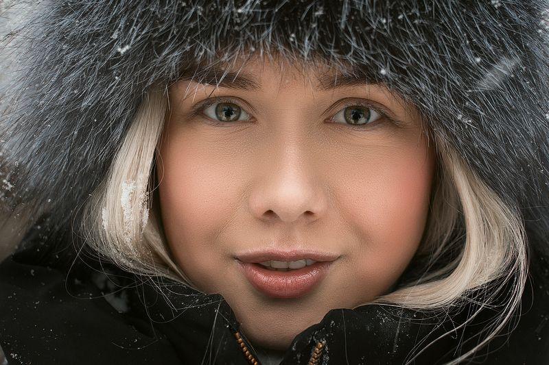 зима, улица, снег, глаза, портрет Zhenyaphoto preview
