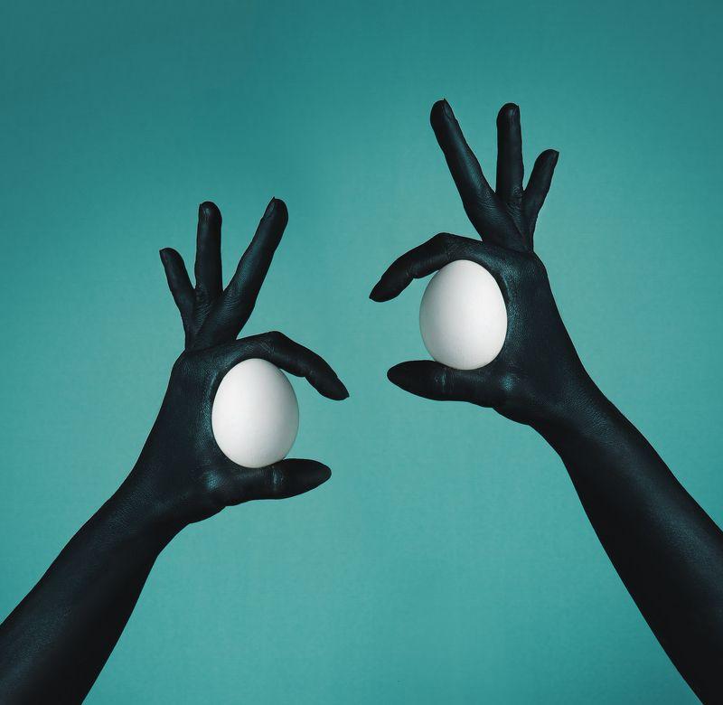 птицы, руки, яйцо, абстракция, арт, фуд арт, черный, белый Birdsphoto preview
