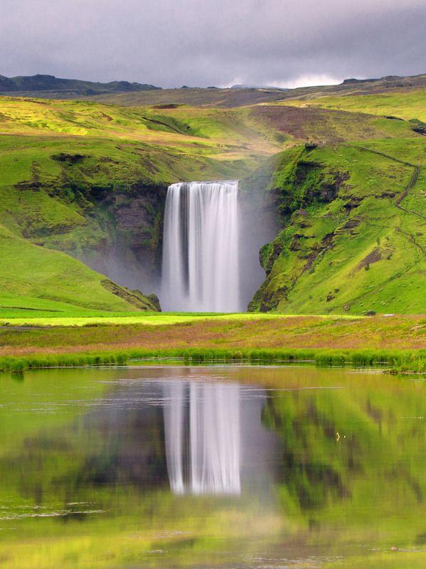 исландия,  iceland, скоугафосс, водопад Скоугафоссphoto preview