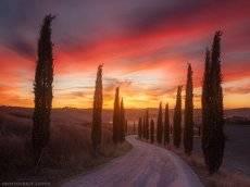 Огненный закат Италии