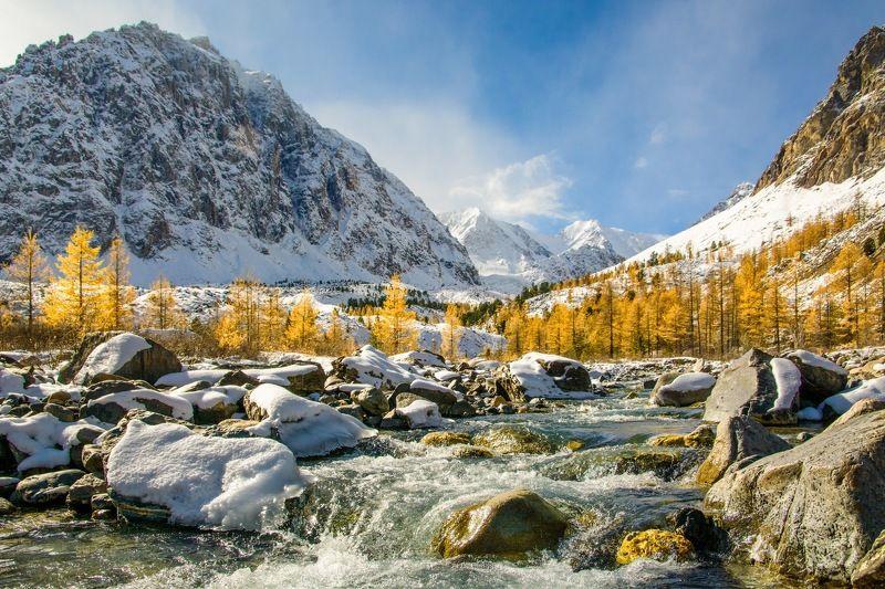 алтай,осень В долине реки Актуруphoto preview