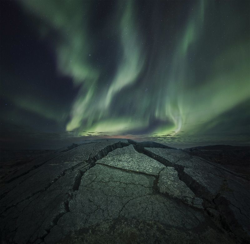 landscape, iceland, mountain, nature, aurora, nature, night, star photo preview