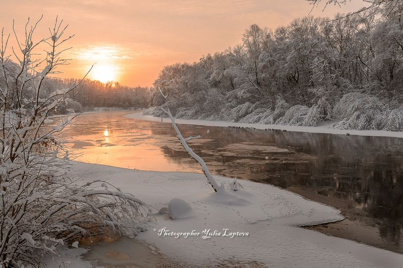 пейзаж,природа,утро,рассвет,зима,февраль,россия,река Теплая прохлада зимыphoto preview