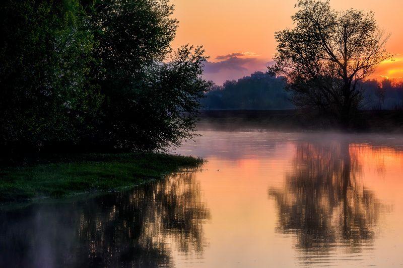 река, закат, весна, дымка Закаты на Клязьмеphoto preview