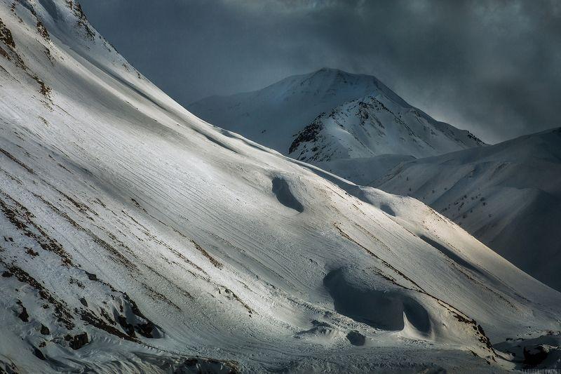 природа, грузия, горы, зима, ландшафт, пейзаж, гудаури, путешествие, закат Снежные дюныphoto preview