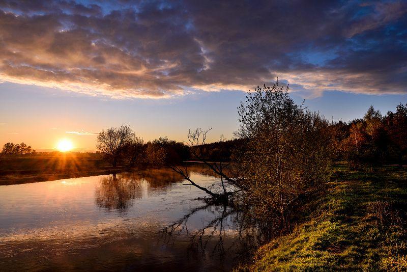 река, закат, весна, солнце Закаты на Клязьме (1)photo preview