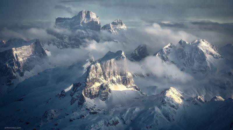#italia #италия #горы #доломиты Последние лучи солнцаphoto preview