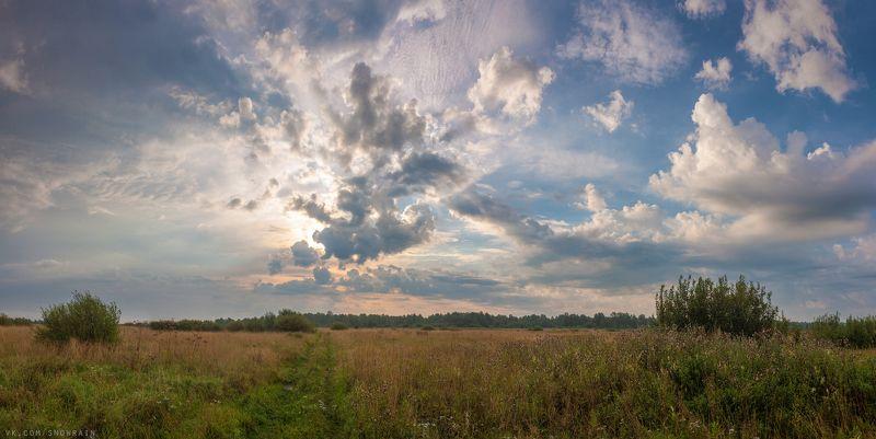 пейзаж, природа, облака, горы, путешествия, travel, wildlife, nature, sky, clouds, landscape Рассвет над полемphoto preview