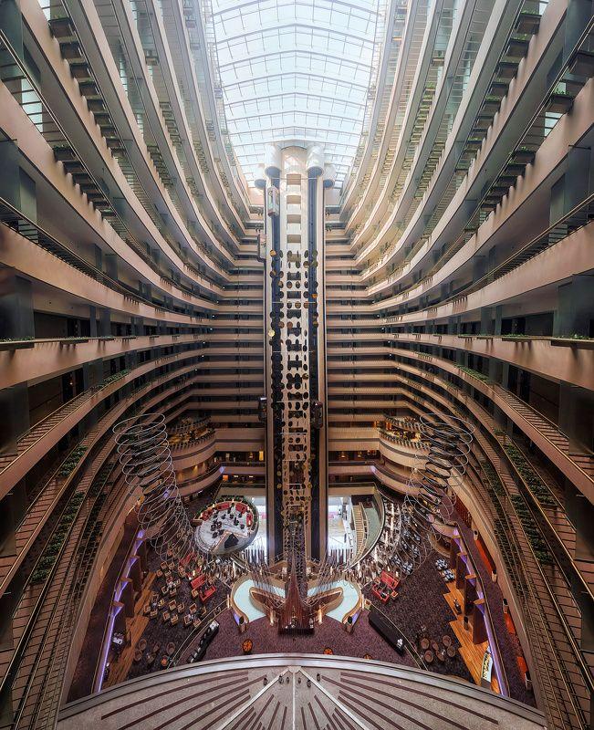 архитектура, город, атриум, сингапур Инсектархитектурнаяphoto preview
