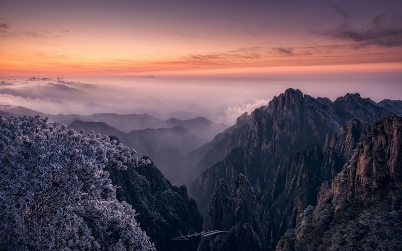 landscapes, sunset,cloud,china, Yellow Mountain 2photo preview