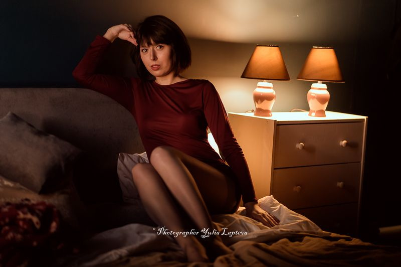 портрет,жанровый портрет,девушка,естественный свет Теплый домашний светphoto preview