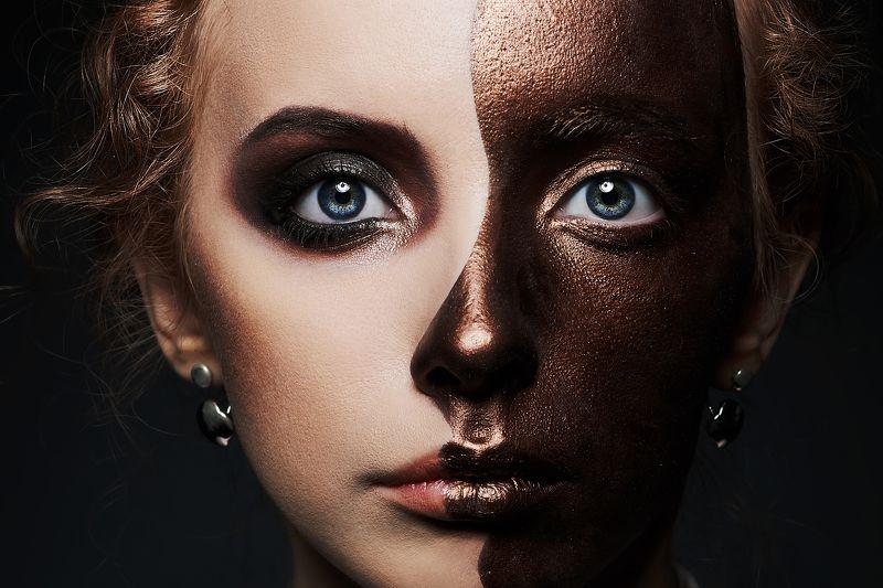 портрет, лицо, мода, красота, сиськи, модель Лицаphoto preview