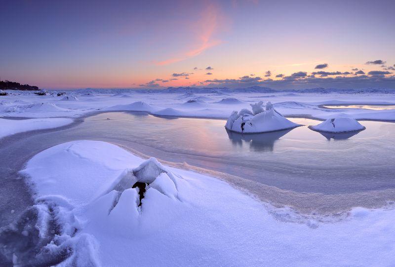 пейзаж мороз зима латвия море снег лёд Яйцо \