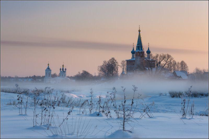 россия, ивановская обл, горицы Февральский туманphoto preview