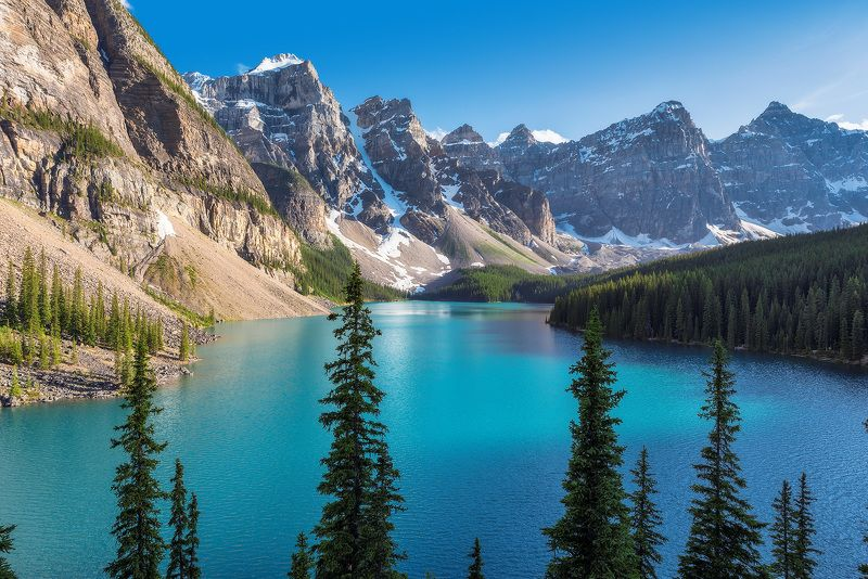 canada, banff, national, park , lake, nature, louise, moraine, landscape, scenery, mountain, canadian rockies, rocky mountains, summer, reflection,  rocky, alberta, scenic, sunrise, hiking, trekking, calgary, travel, forest, Canadian Rockiesphoto preview