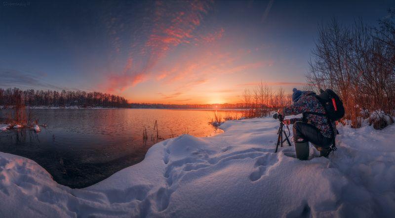 шатура, озеро, фотограф, рассвет Охотник за светом)photo preview