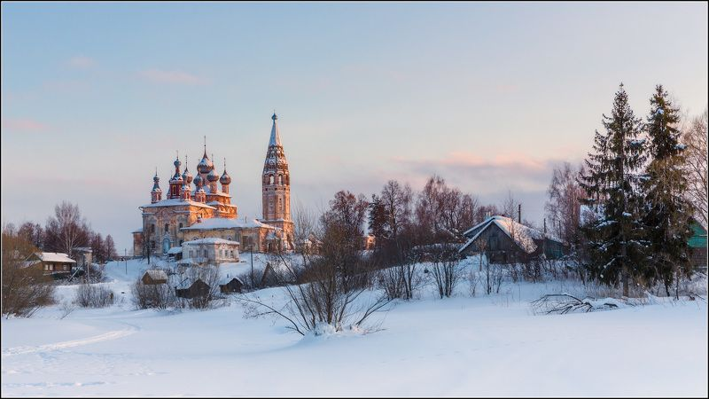 россия, ивановская обл, парское Зимний вечер в Парскомphoto preview
