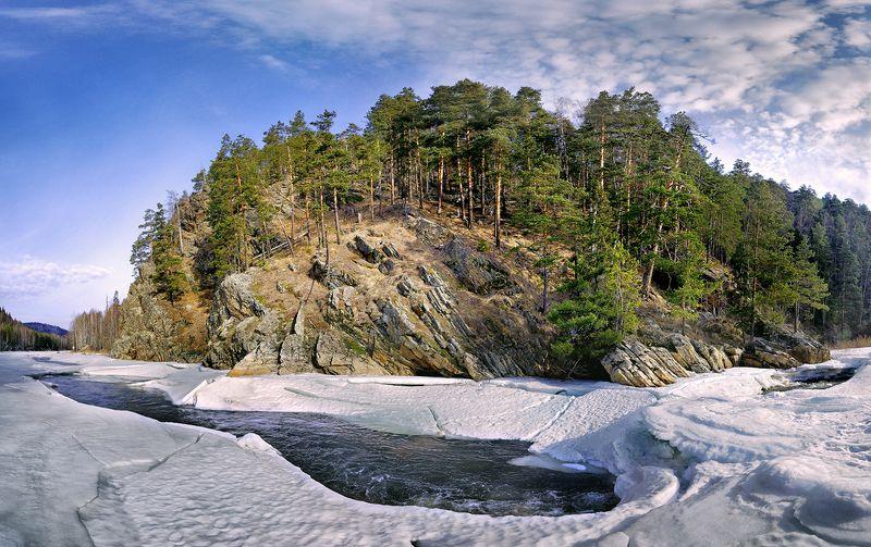 южный урал река инзер айгирские пороги март Пробуждениеphoto preview