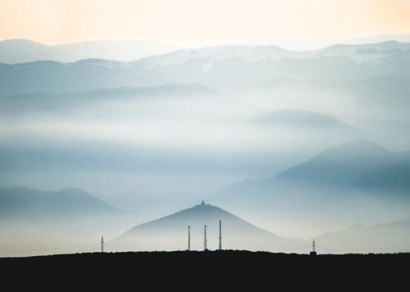 travel, mountaincs, landscape, adventure, nature, church Holy mountainphoto preview