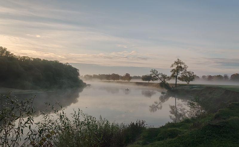 березуцкий александр, утро, туман, река, андреевский луг Скоро рассветphoto preview