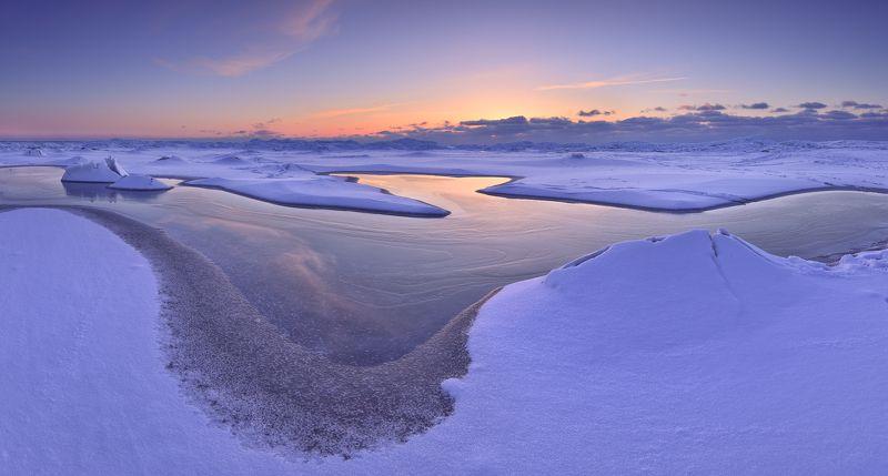панорама, пейзаж, латвия., море, снег, мороз Winter layersphoto preview